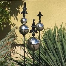 kule na piku do ogrodu srebrne kule