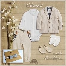 kompletny, elegancki strój do Chrztu dla chłopca. Na blogu 5 outfitów.