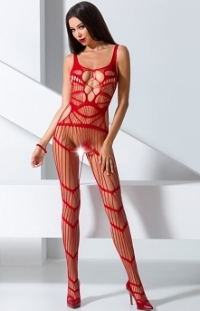 Passion Pikantne bodystocking red BS058