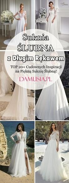 Suknia Ślubna z Długim Rękawem: TOP 20+ Cudownych Inspiracji na Piękną Suknię...