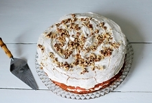 ciasto z bezą i masą z serka mascarpone - pyszne!