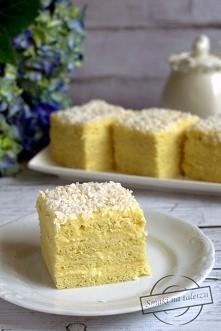 Ciasto Aniołek (z masą budyniową na gorąco)