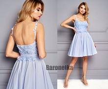 Piękna sukienka z odkrytymi...