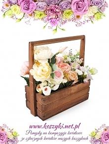 Pomysł za udekorowanie skrzynki drewnianej kwiatami i stworzenie pięknej ozdo...