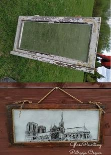 Nowe życie starego okna :) Obraz malowany na szkle 30x70 Ig: @glass_pat_art