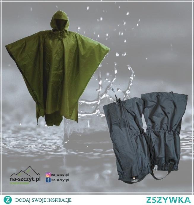 W górach deszcz?  Nie zapomnij zaopatrzyć się w płaszcz przeciwdeszczowy i stuptuty.  Ciesz się z wędrowania bez względu na pogodę.  na-szczyt.pl