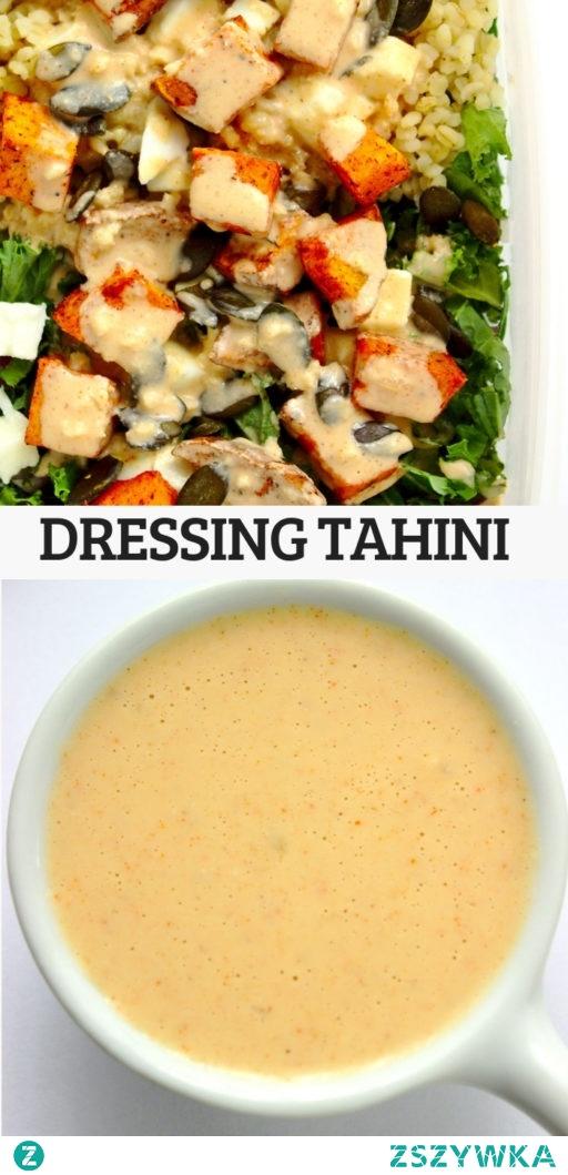 Dressing tahini do sałatek, warzyw, słonych przekąsek, na chleb.