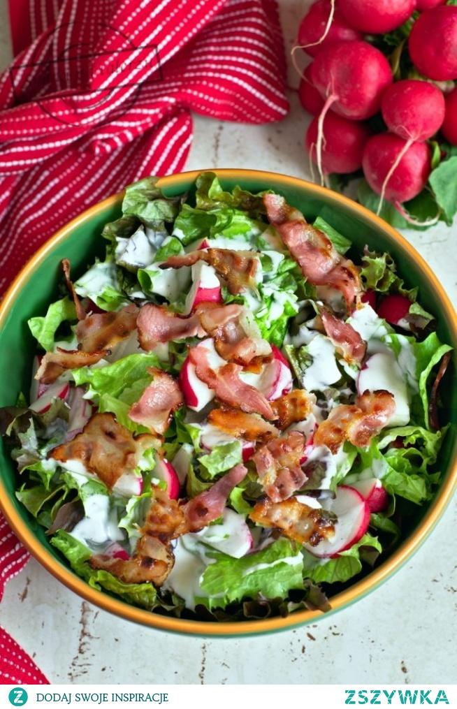 Sałata z rzodkiewkami (do obiadu)