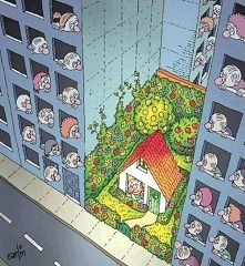 Domek z ogródkiem.