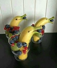 Delfiny z bananów ^.^