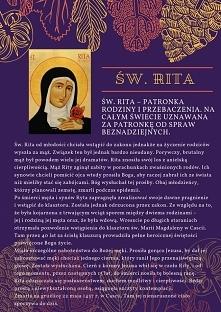 św. Rita świeta od spraw beznadziejnych.