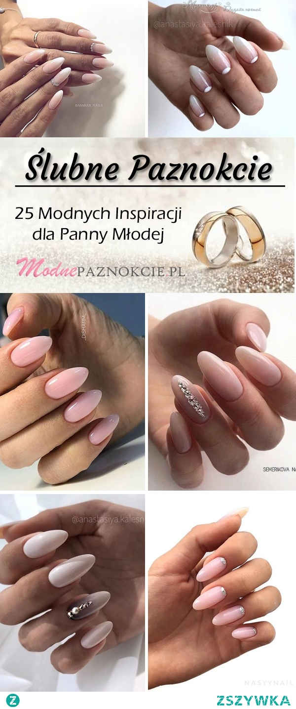 Elegancki i Subtelny Manicure dla Panny Młodej – 25 Modnych Inspiracji na Ślubne Paznokcie