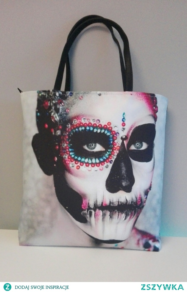 Art Boo white and black sugar skull. Zapraszam na profil Facebook Beti Boo Bags