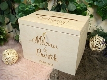 pudełko na koperty, drewnia...