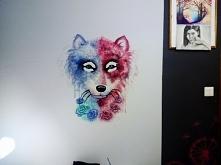 Spontaniczny wilk na ścianie ;)