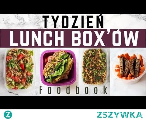 TYDZIEŃ LUNCH BOX'ÓW | Pomysły na lunch do pracy i szkoły | Foodbook wegański #15