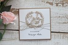 Stylowa kartka ślubna