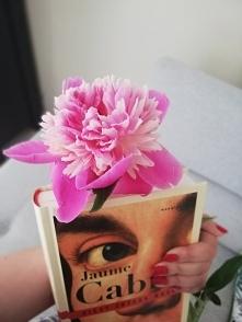 Nowa książka i piękne kwiaty. Czego chcieć więcej? Idealny poranek