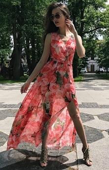 Długa sukienka roco Fashion