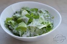 Zielona sałata z miętą