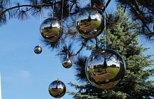 Stalowa, srebrna kula dekor...