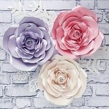 Śiana z kwiatów, Kwiaty 3 d na ścianę, papaierowe kwiaty, róże na ścianę, dekoracje ślub, kwiaty na ślub