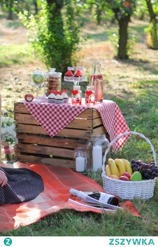 Słodki piknik i sesja narzeczeńska