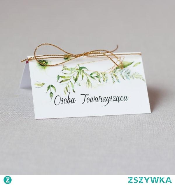elegancka winietka z motywem roślinnym, białe kwiaty eustomy i złoty sznurek