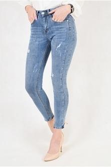 Klasyczne jeansy z przetarc...