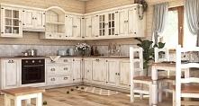 prowansalskie  meble   kuchenne  na  wymiar  wykonane  z  litego  drewna