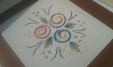 Haft matematyczny - kwiaty :)