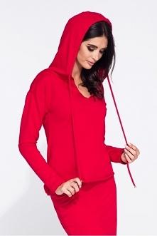 Czerwona bluza damska sport...