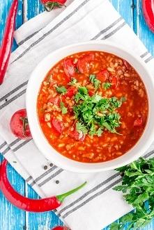 Zupa paprykowa z mięsem mielonym