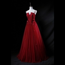 Piękne Burgund Sukienki Wie...