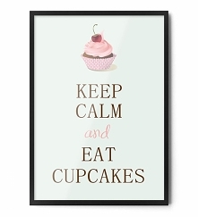 Plakat CUPCAKES FOX ART STUDIO