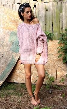Sweter hand made z wełną  p...