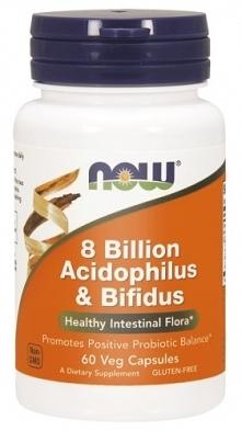 Stosuj acidofilus i bifidus 8 miliardów probiotyk now foods 60 kapsułek a Twoje problemy jelitowe znikną. Pamiętaj o zbilansowanej diecie!