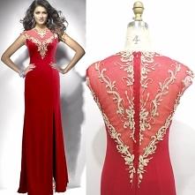 Elegancka Czerwone Sukienki...