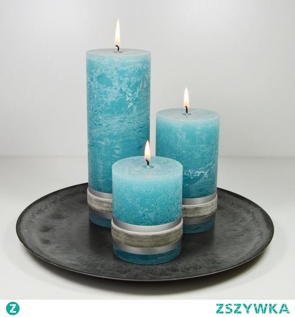 Badidi_Shop (Allegro) świece turkus