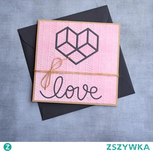 love :: geometryczne serce :: RÓŻ & GRANAT