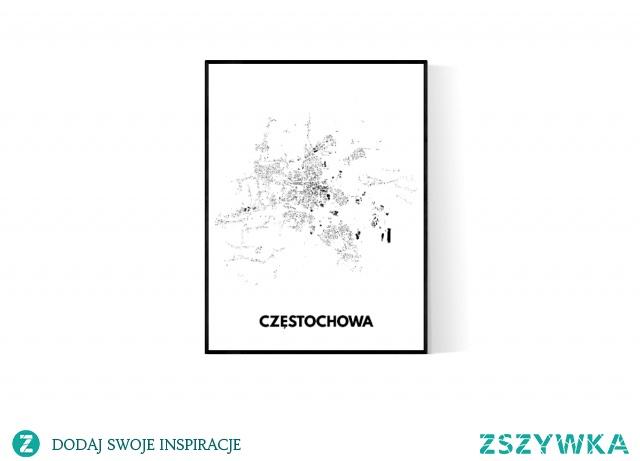 Plakat lub obraz Częstochowy makemap.me
