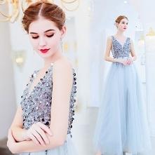 Uroczy Srebrny Sukienki Wie...