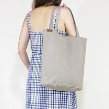 Shopper bag XL beżowa torba...