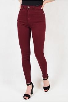 Bordowe spodnie skinny jean...