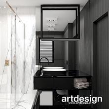Kontrastowe wnętrze łazienk...
