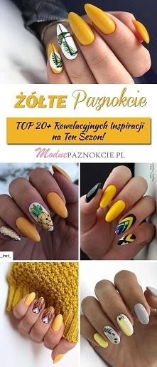 Żółte Paznokcie na Lato – T...