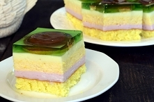 Ciasto piankowe z delicjami
