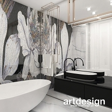 Projekt łazienki z piękną m...
