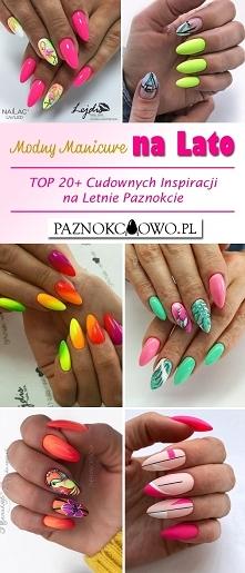Modny Manicure na Lato – TOP 20+ Cudownych Inspiracji na Letnie Paznokcie