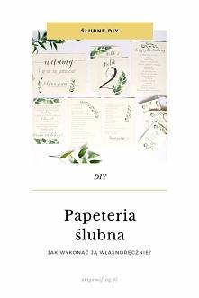 DIY Papeteria ślubna • origamifrog.pl